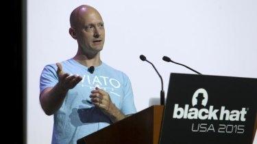 Charlie Miller at the Black Hat security conference.