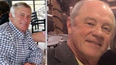 Essendon plane crash victims Greg De Haven (left) and Russell Munsch were from Texas.