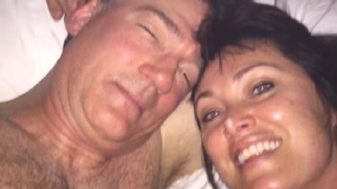 Lisa Oldfield, right, shared a post-'sympathy shag' selfie on Instagram in 2017. Left: David Oldfield.