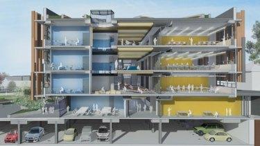 A six-storey redevelopment at a Sydney school.