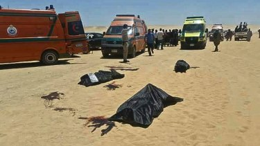 Dozens of Coptic Christians were killed by the gunmen in the attack.