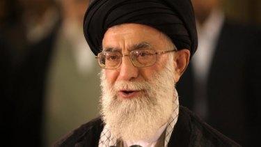 Iran's spiritual leader Ayatollah Ali Khamenei.