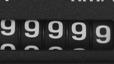 I watched as the odometer counted up, thinking that there'd be a clicking sound but there was nothing of the sort.