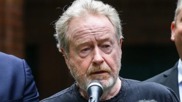Ridley Scott announces the shoot for
