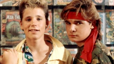 Corey Haim (L) and Corey Feldman (R) in 1987's <i>The Lost Boys</i>. Haim, who died in 2010, was reportedly raped aged 11.