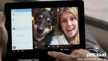 Petcloud allows you to Skype your furry loved one while you are away.
