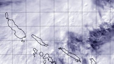 Cyclone Raquel forms over the Solomon Islands.