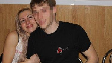 Yulia Balykina and her former boyfriend.