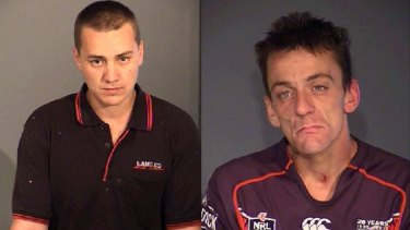 Bid for freedom: Patrick McCurley (right) and Jacob MacDonald have been charged with escape after they broke out of the Alexander Maconochie Centre.
