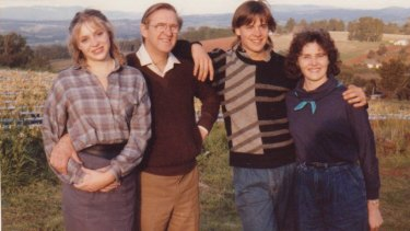 Susan Berg (far left) in the last photo taken with her parents and brother before the boating accident.