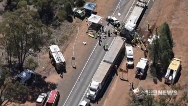 One boy was conscious for three hours as emergency crews worked to free him from the wreckage.