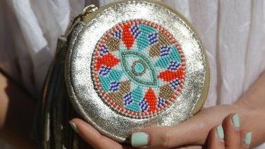 Saaki makes art of the artisanal, like this bag by Olivia Dar.