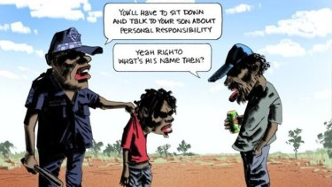 The cartoon which appeared in The Australian newspaper.