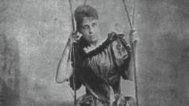 A photo purportedly of Jeanette Van Tassel, another of the troupe.
