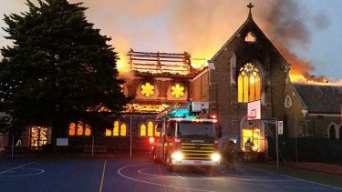 Reader Garry Furlong took this picture of the fire at the historic St James Church.