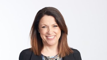 NAB business manager Sally Collins says she will not stop working flexibly despite returning to full-time hours.