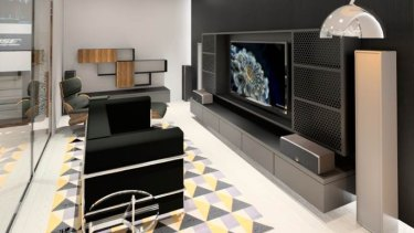 David Jones' new tech offering includes installations designed to look like homes.