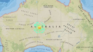 Map of where an earthquake struck in the early hours of May 21.