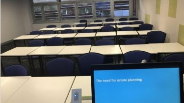 Adrian Raftery posted a picture of his empty classroom.