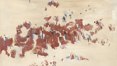 You Yangs landscape, 1965, oil on canvas (detail).