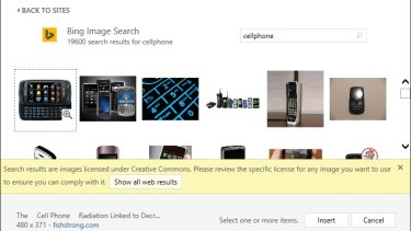Royalty free images within Office applications will now be served by Bing Images.
