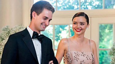 Miranda Kerr and Evan Spiegel, seen here at a White House function, were married in the garden of their $16 million home in Brentwood, Los Angeles, in front of close family and friends in May.