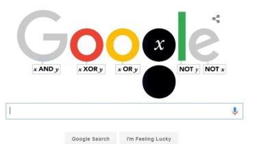 The George Boole Google doodle.