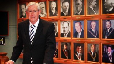 Hornsby mayor Steve Russell says he has fallen out with members of the party over his stance on council mergers.