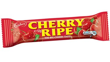 A big pack of Cadbury's Cherry Ripe says the serving size is 18 grams - three times larger than the single bar.