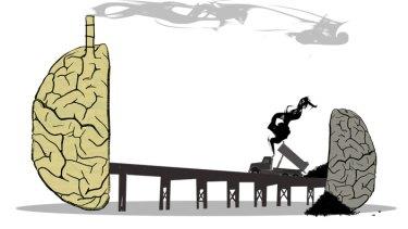 """The left brain manipulates the world the right brain understands it."" Illustration: Simon Bosch"