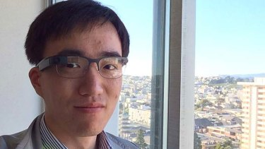 Long Zheng, shown here wearing a Google Glass.