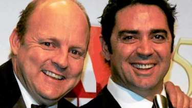 Billy Brownless and Garry Lyon in happier times.