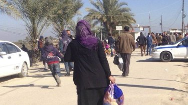 Residents evacuating Ramadi earlier this month amid the ongoing fight for the city.