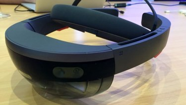 Microsoft's Hololens augmented reality headset offers a glimpse of the future.