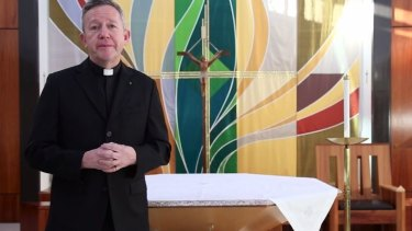 Vicar Philip Murphy at the Holy Apostles' Church in Sunshine.
