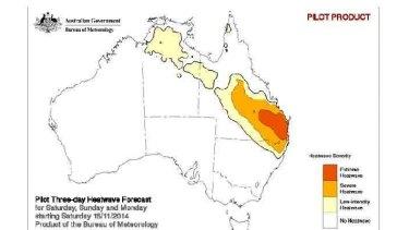 Heatwave persists at 'extreme' level around Brisbane on Saturday.