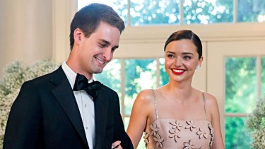 Miranda Kerr and Evan Spiegel, seen here at a White House function, were married in the garden of their home in Brentwood, Los Angeles, in front of close family and friends in May.