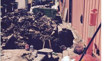 A blockage of wet wipes, also known as a fatberg, posted on Sydney Water's Facebook page by a woman who spent $16,000 fixing her blocked pipes.
