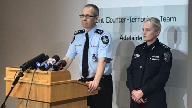 AFP Assistant Commissioner Counter Terrorism Ian McCartney, and SA Deputy Commissioner Linda Williams.