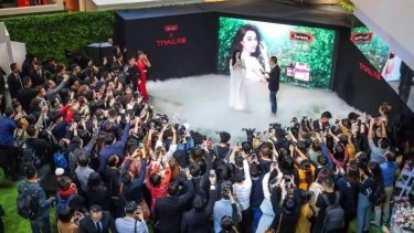 Chinese film star Fan Bingbing at an event for vitamin company Swisse in Shanghai.
