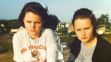 "Cat Rodie aged 14, right, with her sister. A dieter from the age of 11, she has now abandoned her long-held belief that ""low fat"" is better."
