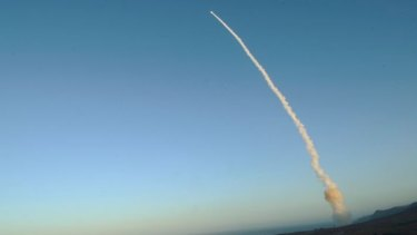A Minuteman III intercontinental ballistic missile launch during an operational test in 2013.