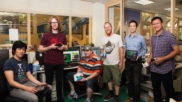 The Makers Empire team (L-R), Jon Soong, Rhys Lindsay, Sparky Jones, Roland Peddie, Lap Leung, Anthony Chhoy