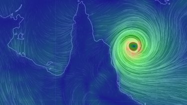 Cyclone Nathan's winds may gust to 260km/h.