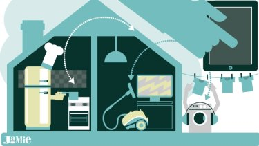 Smart work: Home technology has already entered the world of sci-fi.