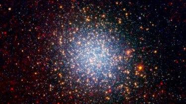 The Omega Centauri globular cluster viewed by NASA's Spitzer telescope.