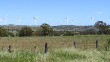 How wind turbine near Bunya Mountains would appear in 2019.