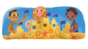 Google's Australia Day artwork in 2015.
