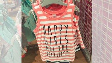 A T-shirt sold at Target.