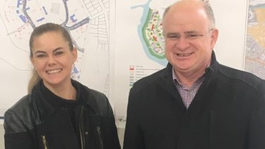 New mayor of Parramatta  council Andrew Wilson with deputy mayor Michelle Garrard, during the election campaign.